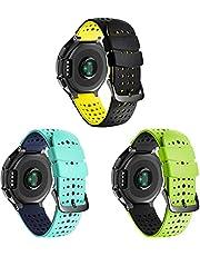 Gransho Silicone Rubber Watch Strap with Buckle kompatibel med Garmin Forerunner 235 / Forerunner 735XT / Forerunner 220 / Forerunner 230 Band, Waterproof Replacement Band