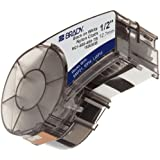 "Brady M21-500-499-TB 16' Length, 0.5"" Width, B-499 Nylon Cloth, Black On White Color, BMP 21 Mobile Printer, ID PAL And LABPAL Printer Label"