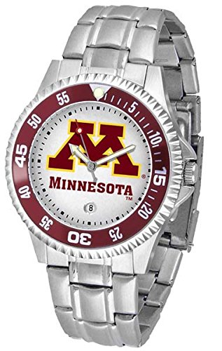 Minnesota Golden Gophers NCAA ''Competitor'' Mens Watch (Metal Band) by SunTime
