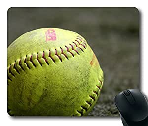 Rectangle mouse pad , Great Softball1 in the Open Air
