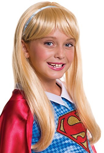 Halloween Wigs Dc (Rubie's Costume Girls DC Super Hero Supergirl)