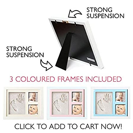 Amazon.com: Kit de bebé Handprint y huella huella de marco ...
