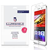 BLU Dash X Screen Protector [3-Pack], iLLumiShield - Japanese Ultra Clear HD Film with Anti-Bubble and Anti-Fingerprint - High Quality Invisible Shield - Lifetime Warranty