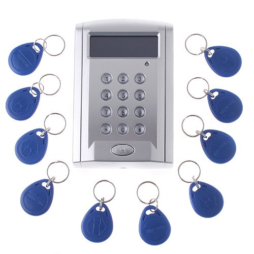 Style Access Control Keypad (Docooler® LCD Display Networking Entry Door Access Control System + 10 Key Fobs (Style 3))