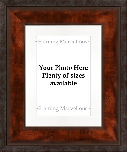 "Framing Marvellous Urban Bronze Effect Photo Picture Frame - (8x12"" pic (11x14"" glass) WALL & STRUT, WHITE MOUNT)"
