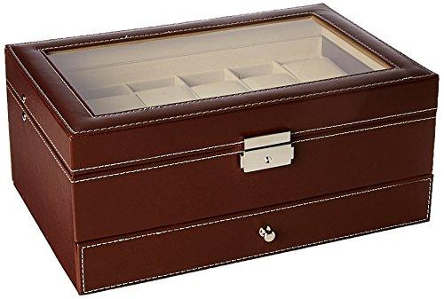 Autoark Leather 12 Watch Box w