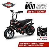ninja bikes for kids - Monster Moto 250 Watt Electric Mini Bike - MM-E250-PR
