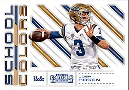 367a23d0e Image Unavailable. Image not available for. Color  2018 Panini Contenders  Draft Picks School Colors  2 Josh Rosen UCLA Bruins Football Card