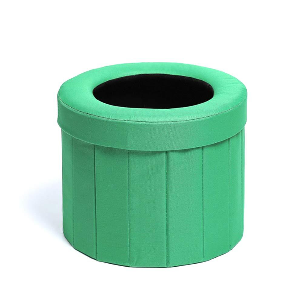JXHD Tragbare Zusammenklappbare Auto-Toilette/Fahrzeug-Urin-Tasche - Verwendbar Für Not Im Freien, Kampierend Und Schlafend, Auto-Reise, Schwangere Erbrechen,A-DarkGrün
