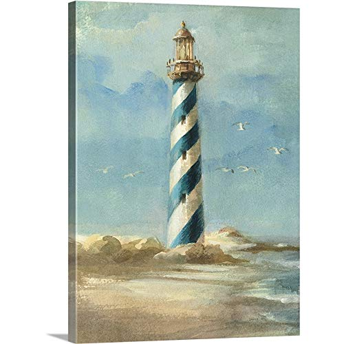 Lighthouse I Canvas Wall Art Print, 12 x16 x1.25