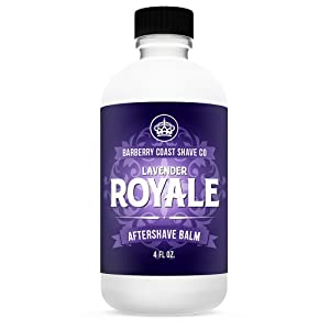 LAVENDER ROYALE Aftershave Balm - Post Shave Moisturizer & Face Lotion - 100% Natural, Premium After Shave with Pure Lavender, Vitamin E, Shea Butter & Cooling Menthol
