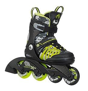 K2 Kinder Inline Skate SK8 Hero X Pro, schwarz/giftgrün, L, 3050208.1.1