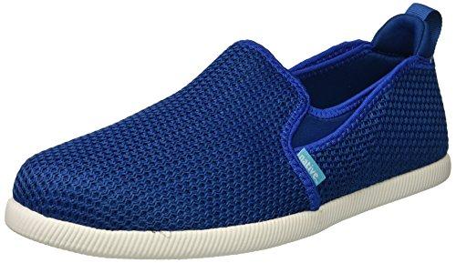 native Men's Cruz Sneaker, Victoria Blue/Shell White, 9 Men's M US (Neoprene Soft Shell)
