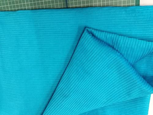 Tela de algodón de color azul eléctrico, por metro, 300 g/m2, 112 cm de ancho: Amazon.es: Hogar