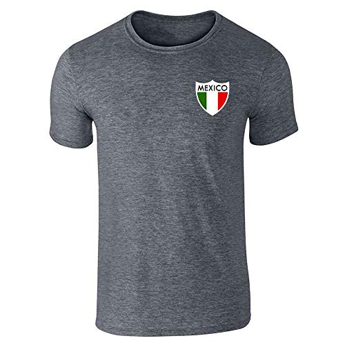Mexico Futbol Soccer Retro National Team Football Dark Heather Gray XL Short Sleeve T-Shirt