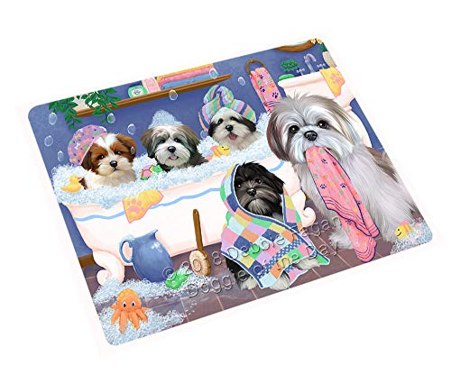 Rub A Dub Dogs in A Tub Lhasa Apsos Dog Blanket BLNKT130620 (50x60 Plush) by Doggie of the Day (Image #2)