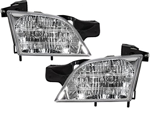 HEADLIGHTSDEPOT Compatible with Venture/TransSport/Silhouette/Montana New Headlamps w/Xenon Headlight Bulbs