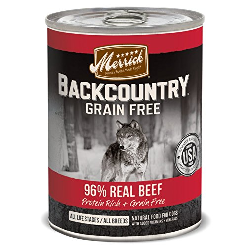 Merrick Backcountry Real Beef Recipe Pet Food, 12.7-Ounce, 1