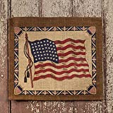 The Country House Collection Ol' Glory Burlap Wall Banner (16x14'')