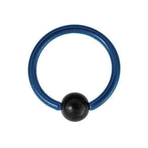 Blue Banana Body Piercing BCR Titanio Coloreado 1.2mm (Azul ...