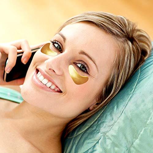 Adofect 30 Pairs Gold Collagen Eye Mask Powder Crystal Gel Eye Masks Under Eye Patches Great For Moisturizing, Wrinkle…