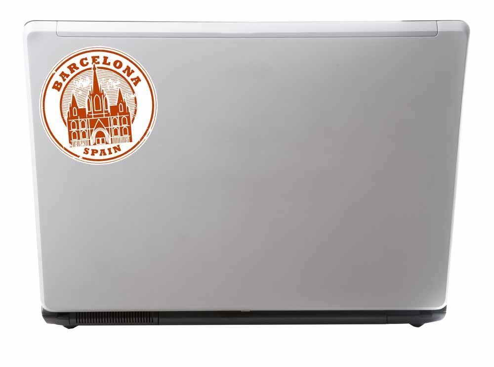 2 x 10cm//100mm barcellona catalogna Spagna adesivo vinile adesivo auto portatile da viaggio Etichetta Bagaglio Tag #9552