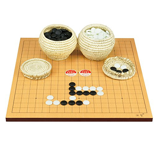 19'' Go Board with Single Convex Stones and Bowls Go Game Set ~ USA SELLER ~We Pay Your Sales Tax WT00040 by We pay your sales tax