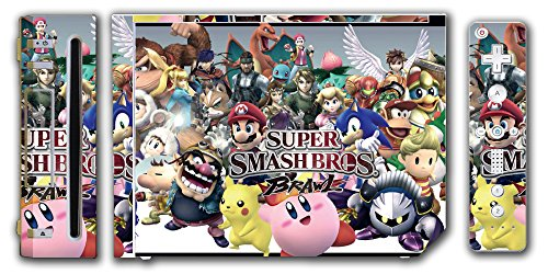 Ice Pit - Super Smash Bros Brawl Melee Kirty Meta Knight Wario Sonic Mario Ice Climbers Marth Roy Pit Link Zelda Samus Video Game Vinyl Decal Skin Sticker Cover for the Nintendo Wii System Console