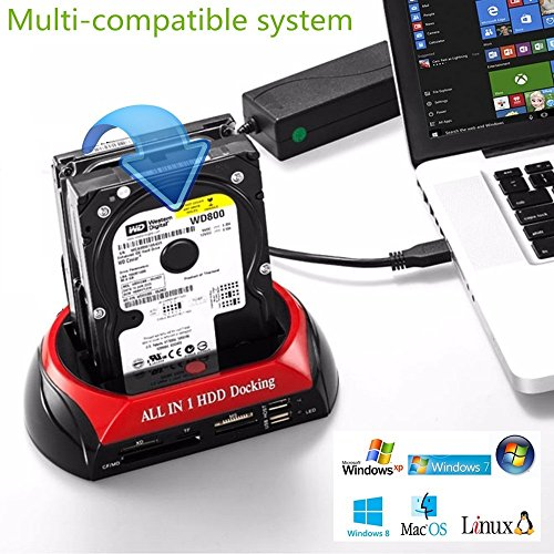 "SATA HDD 2//3//4 Bays Off-line Clone Docking Station 2.5/"" 3.5/"" Hard Drive USB 3.0"
