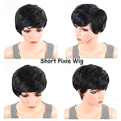 BeiSD Short Pixie Cut Hair Natural Synthetic Wigs For Women Heat Resistant Wig Natural Hair Women's Fashion Wig ...