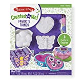Melissa & Doug Decorate-Your-Own Favorite Things Craft Kits Set: Flower and Heart Treasure
