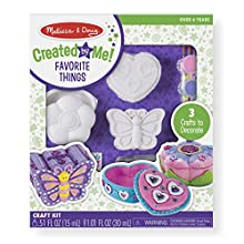 Melissa & Doug Decorate-Your-Own Favorite Things Craft Kits Set: Flower and Heart Treasure Box and Butterfly Bank