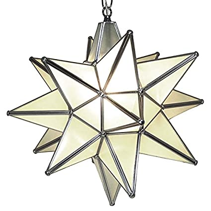 Amazon moravian star pendant light frosted glass silver frame moravian star pendant light frosted glass silver frame 15quot aloadofball Gallery