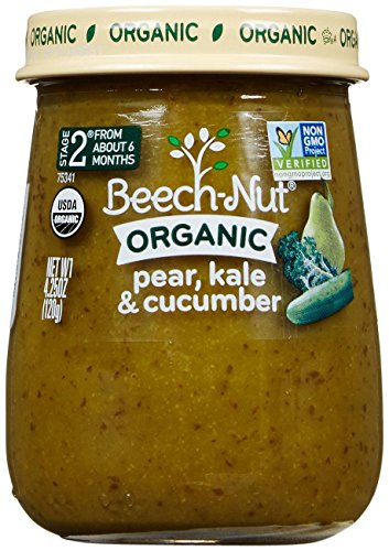 Beech-Nut Just Organic Stage 2 Purees - Pear, Kale & Cucumber - 4.25 Oz - 10 (Beech Nut Pears)