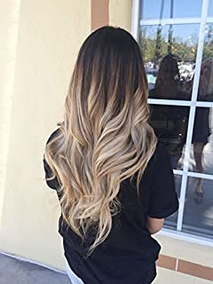22 full head clip in hair extensions ombre wavy curly dip dye 6 one piece clip in hair extensions pmusecretfo Gallery
