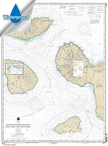 - Paradise Cay Publications NOAA Chart 19347: Channels Between Molokai: Maui: Lana'i and Kaho'olawe; Manele Bay 33.9 x 46 (Waterproof)