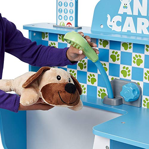 Melissa Doug Animal Care Veterinarian Groomer Wooden Activity Center Role Play Center Teaches Empathy Great For Plush Stuffed Pets 35 5 H X
