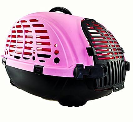 CTZLL Caja transportín envío jaulas para gatos caja perros jaulas de viaje , pink
