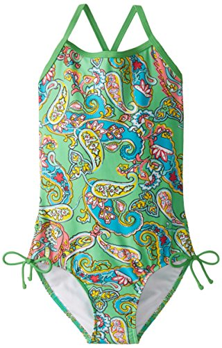 Kanu Surf Big Girls' Caroline One Piece Swimsuit, Green, 12
