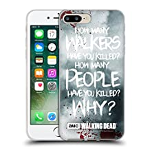 Official AMC The Walking Dead Rick Questions Quotes Soft Gel Case for Apple iPhone 5 / 5s / SE