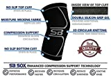 SB SOX Compression Knee Brace for Men & Women (Single) - PREMIUM Knee Sleeve for Knee Pain - Knee Support for Running, Jogging, Sports, Pain Relief, Arthritis, Meniscus Pain, Joint Support (Medium)