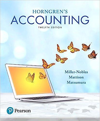 Horngren's Accounting by Miller-Nobles/Mattison/Matsumura