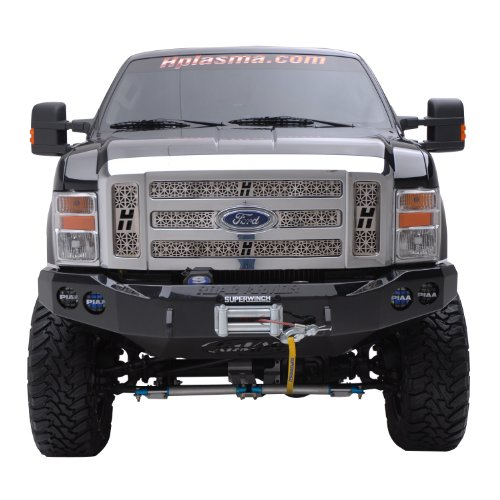 Road Armor 60800B Satin Black Front Stealth Winch Bumper for Ford Super Duty (Road Ford Armor)