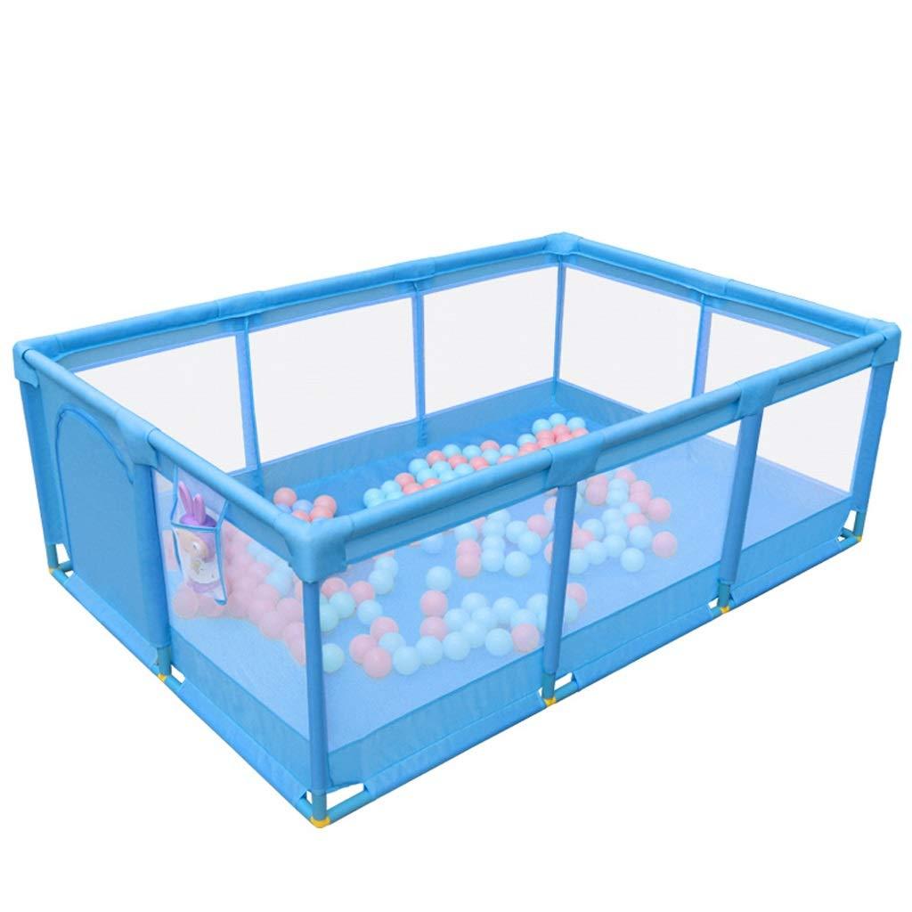 子供のフェンス屋内の家庭の赤ちゃんゲームガードレールの赤ちゃんの安全な幼児のクロールマットのフェンス JSFQ (Color : Blue)  Blue B07TB4JTN1