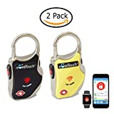 eGeeTouch Smart TSA Luggage Lock with Patented Dual Access NFC + Bluetooth technologies & Vicinity Tracking (Mix 2 Pack)