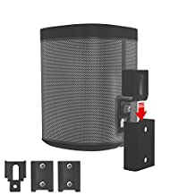 Vebos portable wall mount Sonos Play 1 black - High Quality en optimal experience in every room - Allows you to hang your SONOS PLAY 1 exactly where you want it - Two years warranty