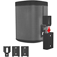 Vebos portable wall mount Sonos Play 1 black en optimal experience in every room - Allows you to hang your SONOS PLAY 1 exactly where you want it - compatible with sonos play 1