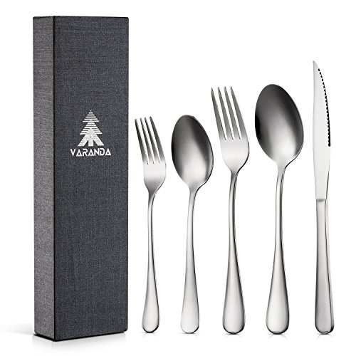 Flatware Sets Service for 4 , Japanese Steel Stainless 20-Piece Cutlery Set