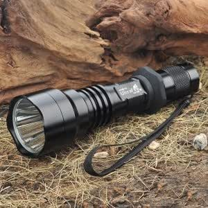 UltraFire A9-T60 CREE XM-L-T6 5-Mode 1200-Lumen White LED Flashlight with Strap - Black (1 x 18650)