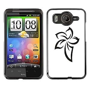 For HTC Desire HD / G10 / inspire 4GCase , Pattern Celtic Ink Tattoo White - Diseño Patrón Teléfono Caso Cubierta Case Bumper Duro Protección Case Cover Funda